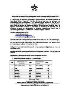 SOLICITUD DE PRECOTIZACIONES PARA EFECTUAR ESTUDIO DE MERCADO