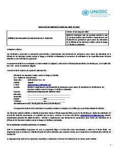 SOLICITUD DE PROPUESTA (SDP) No DE 2015