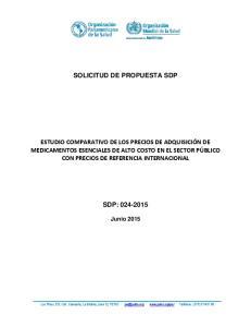 SOLICITUD DE PROPUESTA SDP