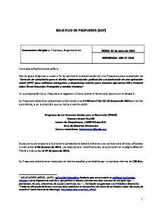 SOLICITUD DE PROPUESTA (SDP)