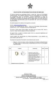 SOLICITUD PRE COTIZACIONES PARA ESTUDIO DE MERCADO