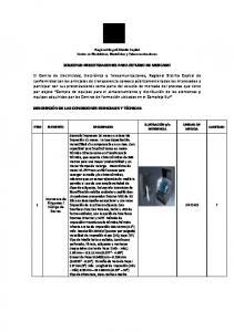 SOLICITUD PRECOTIZACIONES PARA ESTUDIO DE MERCADO