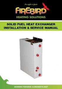 SOLID FUEL HEAT EXCHANGER INSTALLATION & SERVICE MANUAL