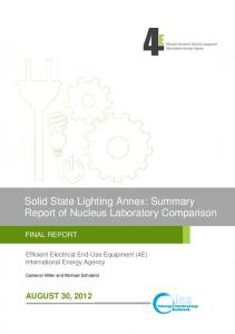 Solid State Lighting Annex: Summary Report of Nucleus Laboratory Comparison