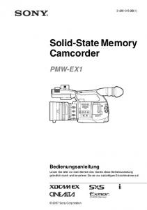 Solid-State Memory Camcorder