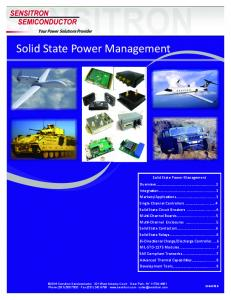 Solid State Power Management