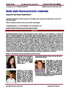 Solid state thermochromic materials