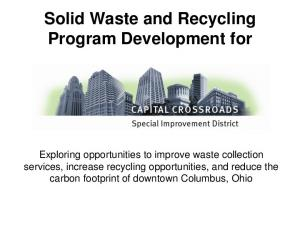 Solid Waste and Recycling Program Development for