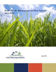 Solid Waste Management Plan Update