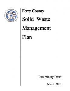 Solid Waste Management Plan