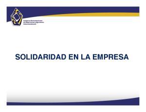 SOLIDARIDAD EN LA EMPRESA!