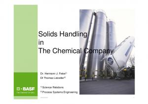 Solids Handling in The Chemical Company