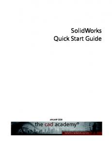 SolidWorks Quick Start Guide