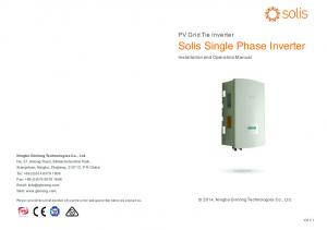 Solis Single Phase Inverter