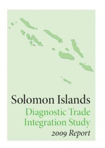 Solomon Islands. Diagnostic Trade Integration Study