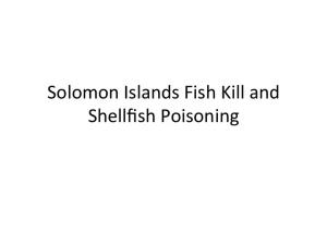 Solomon Islands Fish Kill and Shellfish Poisoning