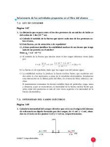 Solucionario de las actividades propuestas en el libro del alumno