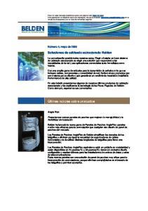 Soluciones de cableado estructurado Belden