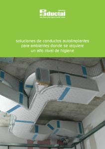 soluciones de conductos autolimpiantes para ambientes donde se requiere un alto nivel de higiene