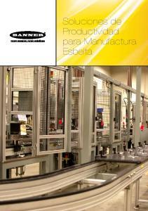 Soluciones de Productividad para Manufactura Esbelta