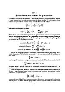 Soluciones en series de potencias