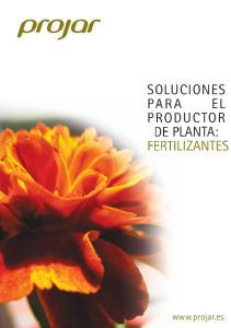 SOLUCIONES PARA EL DE PLANTA: FERTILIZANTES