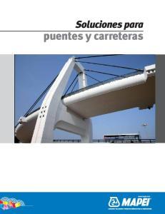 Soluciones para. puentes y carreteras