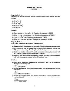 Solution #3, CSE 191 Fall, 2014