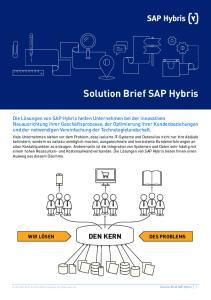 Solution Brief SAP Hybris