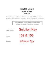 Solution Key. Solution Key