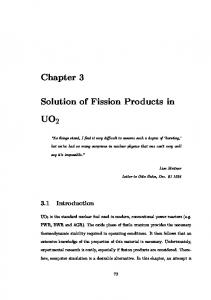 Solution of Fission Products in