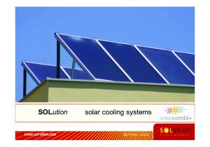 SOLution solar cooling systems
