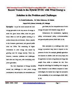 Solution to the Problem and Challenges