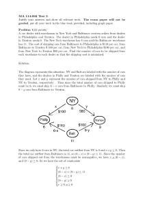 Solution: x + y 8 (6 x) + (9 y) 11 (6 x) 0 (9 y) 0 x 0, y 0