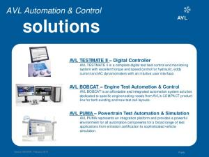 solutions AVL Automation & Control