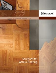 Solutions for Access Flooring