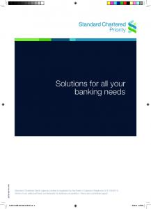 Solutions for all your banking needs