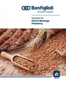 Solutions for Food & Beverage Processing