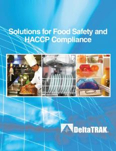 Solutions for Food Safety and HACCP Compliance