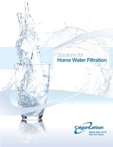 Solutions for Home Water Filtration