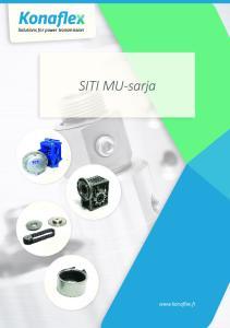 Solutions for power transmission. SITI MU-sarja