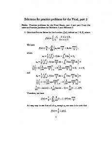 Solutions for practice problems for the Final, part 3