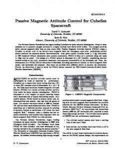 SOLUTIONS for satellite attitude control must be