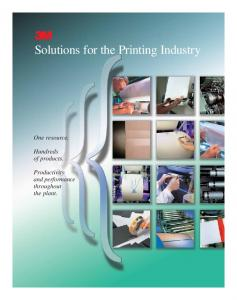 Solutions for the Printing Industry