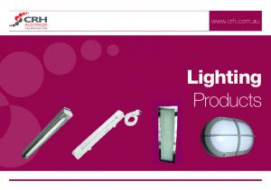 SOLUTIONS FOR TRADE Lighting Products