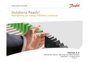 Solutions Ready! Highlighting our energy-efficiency solutions