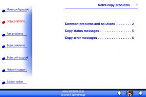 Solve copy problems. Common problems and solutions Copy status messages Copy error messages More configuration