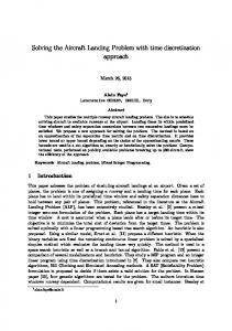 Solving the Aircraft Landing Problem with time discretization approach