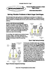 Solving Vibration Problems in Batch Sugar Centrifuges
