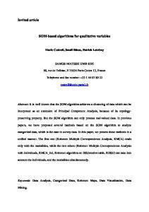 SOM-based algorithms for qualitative variables